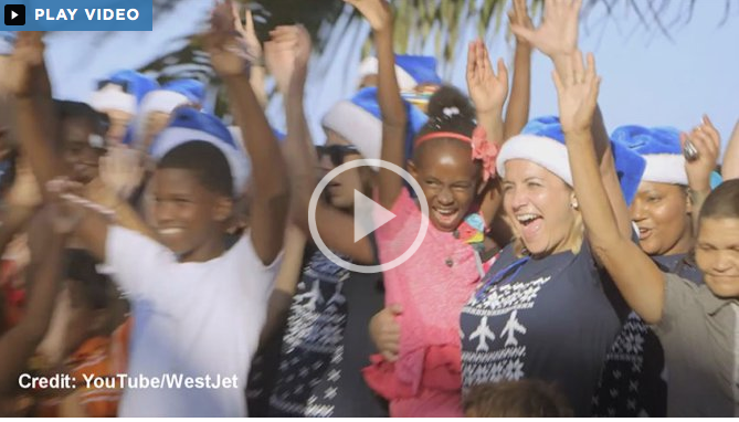 West Jet – gives back!